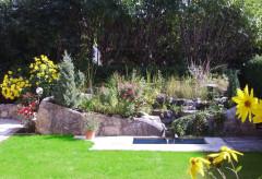 Bachlauf, Garten Ferienwohnung, Garten Tölz